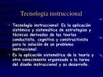 tecnolog a instruccional