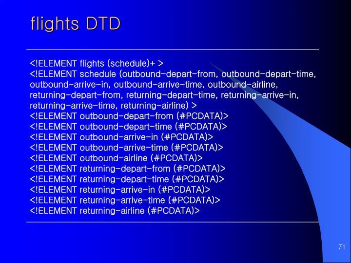 flights DTD