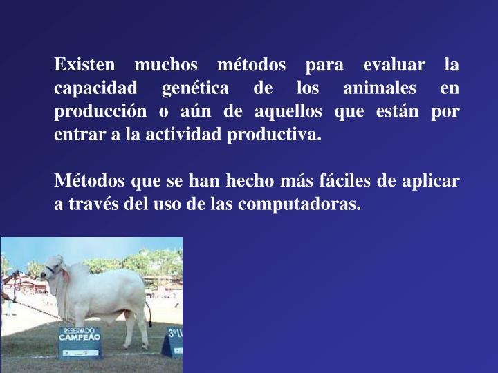 Existen muchos métodos para evaluar la capacidad genética de los animales en producción o aún de aquellos que están por entrar a la actividad productiva.