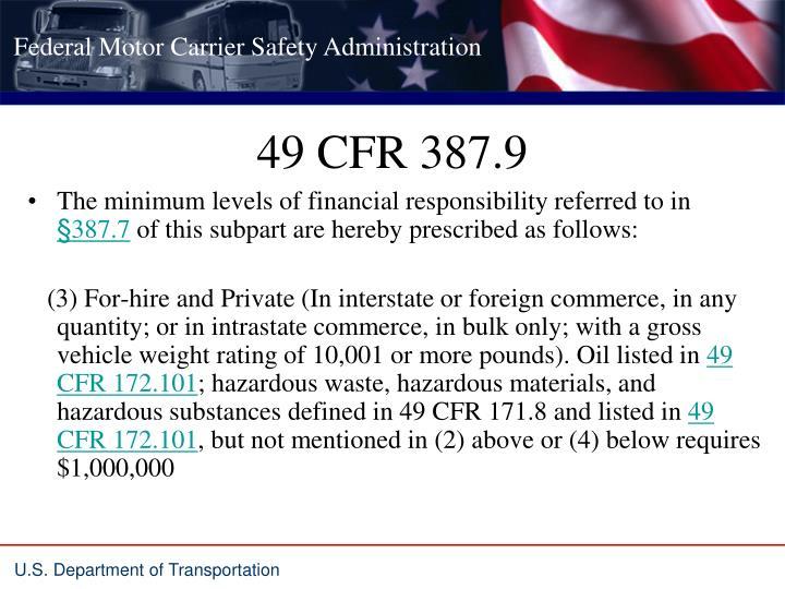 49 CFR 387.9