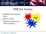 fmcsa actions