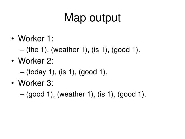 Map output