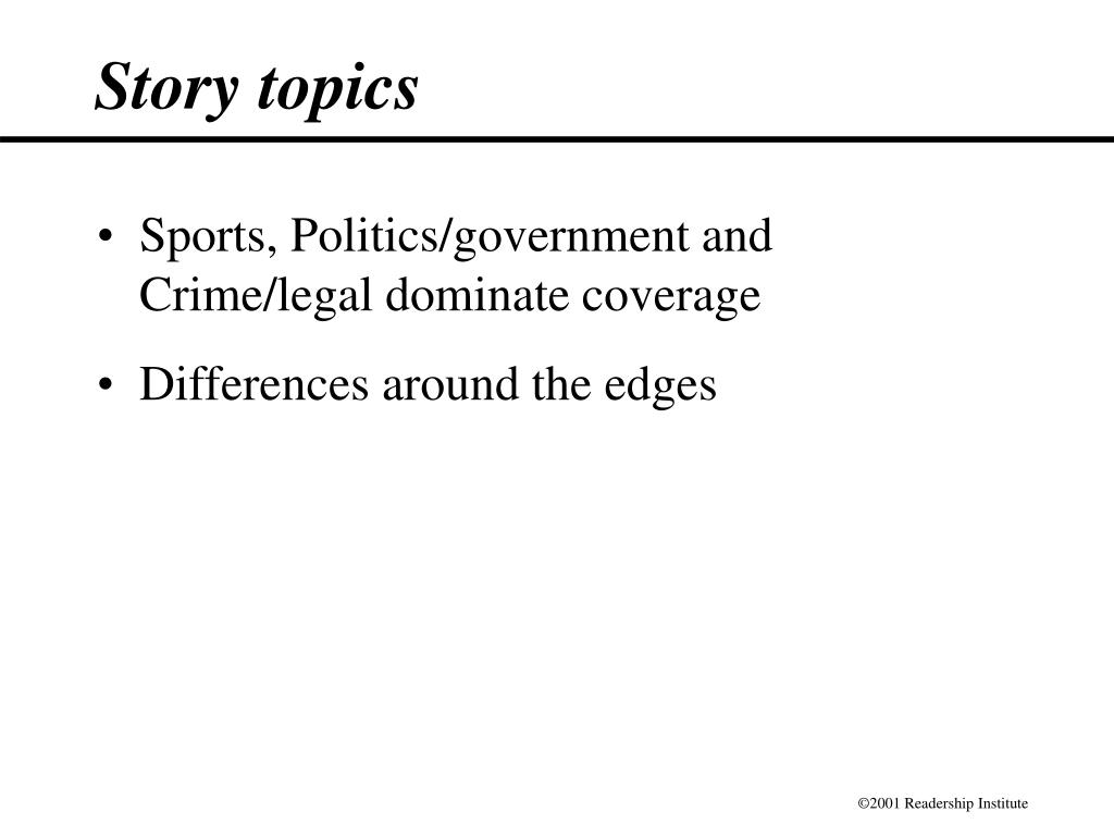 Story topics