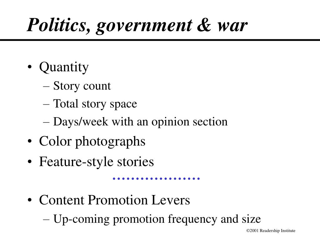 Politics, government & war