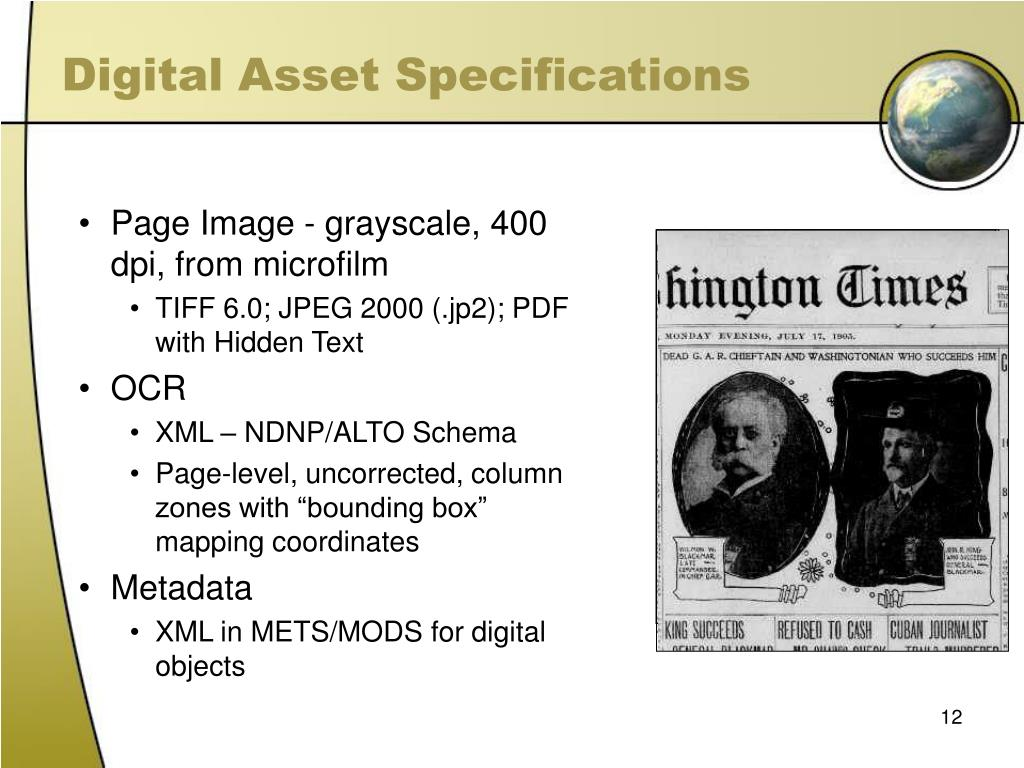 Digital Asset Specifications