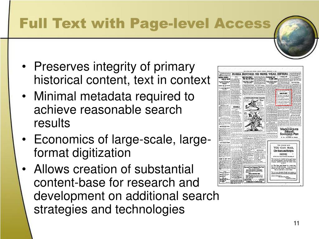 Full Text with Page-level Access