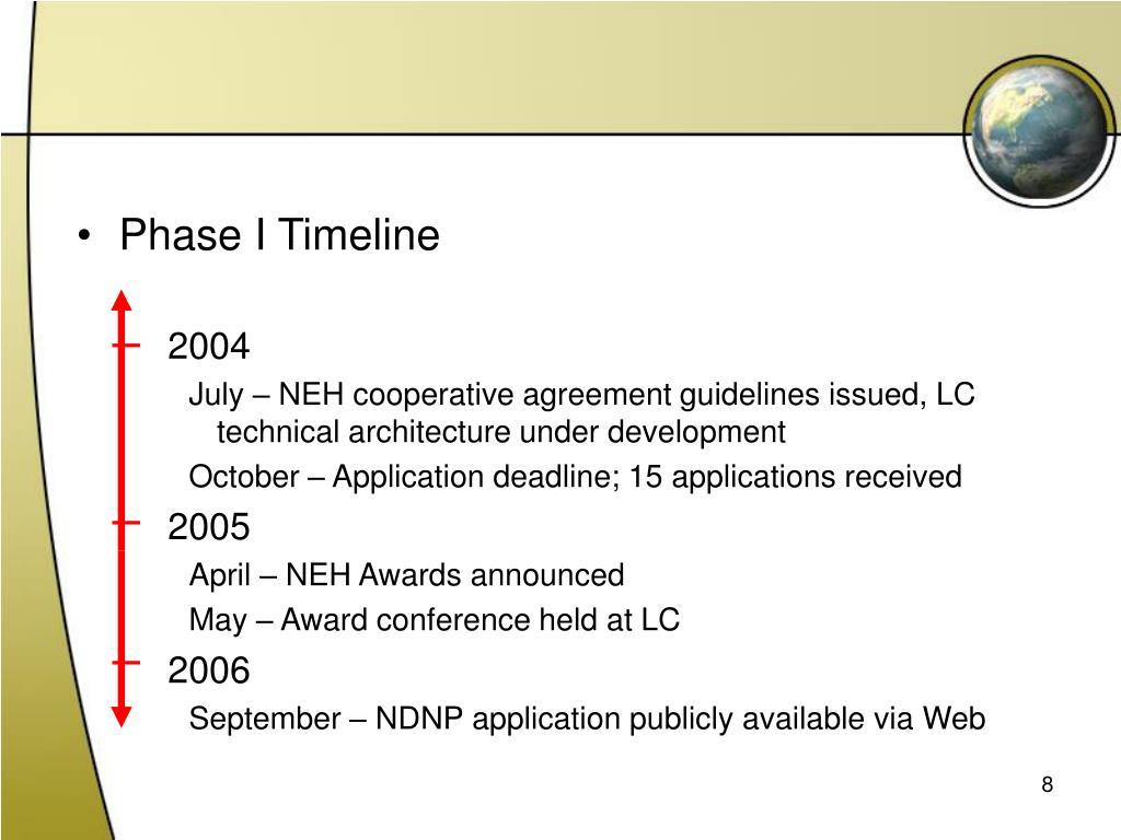 Phase I Timeline