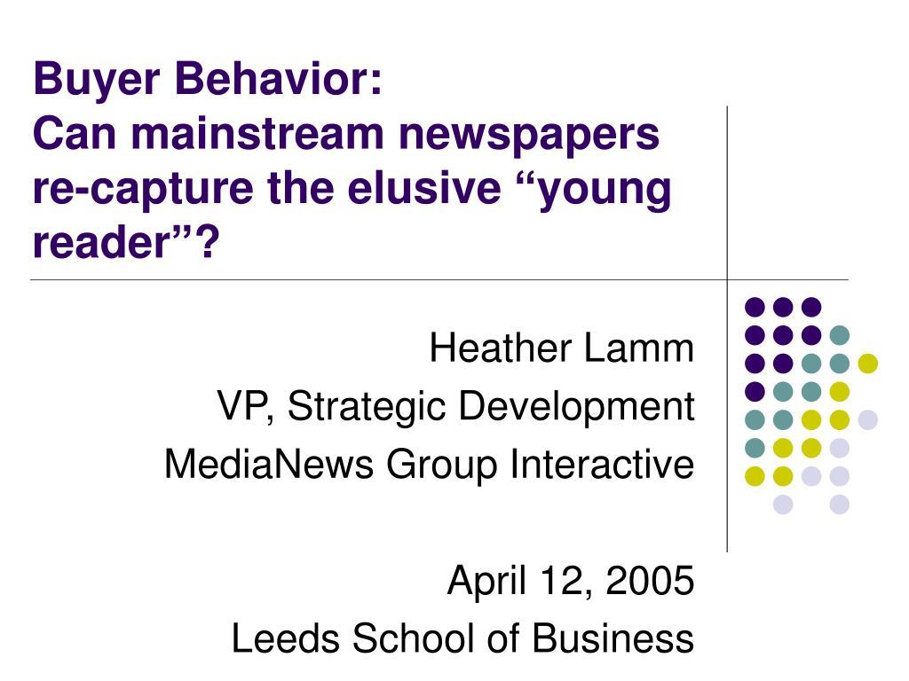Buyer Behavior: