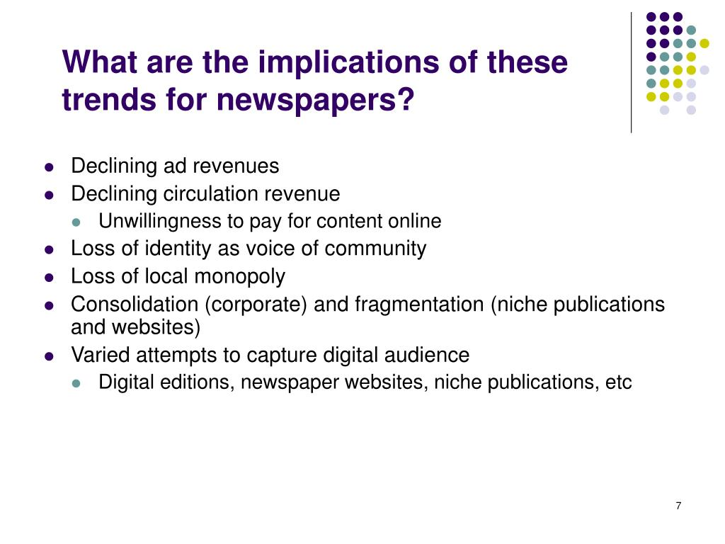 What are the implications of these trends for newspapers?