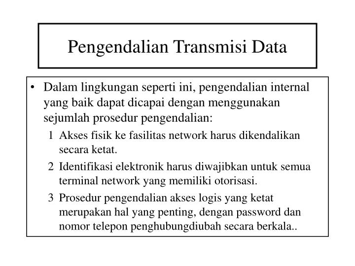 Pengendalian Transmisi Data