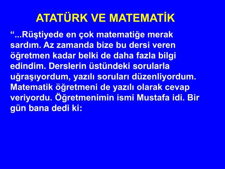 ATATÜRK VE MATEMATİK