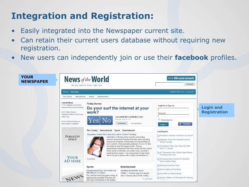 Integration and Registration: