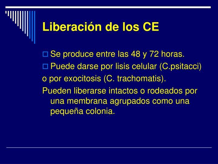 Liberación de los CE