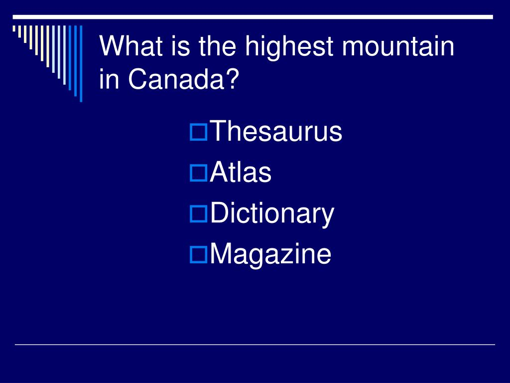 What is the highest mountain in Canada?