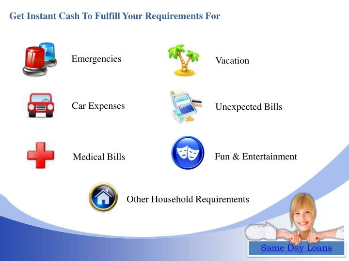 Get Instant Cash To Fulfill Your Requirements For