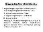 kewujudan stratifikasi global