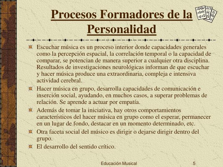 Procesos Formadores de la Personalidad