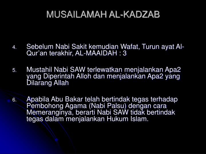 MUSAILAMAH AL-KADZAB