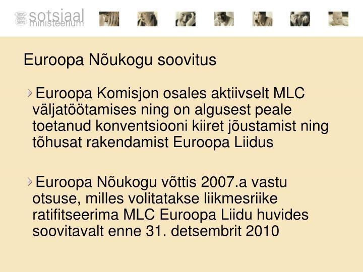 Euroopa Nõukogu soovitus