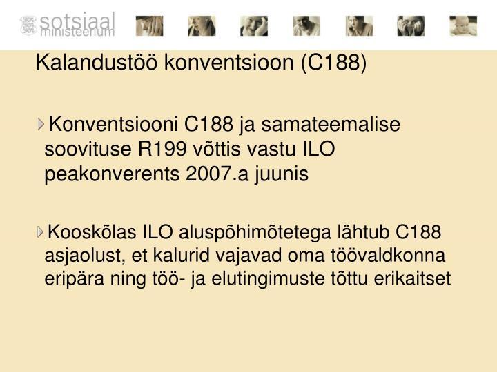 Kalandustöö konventsioon (C188)