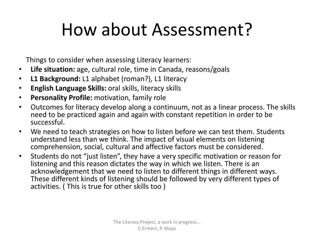 How about Assessment?