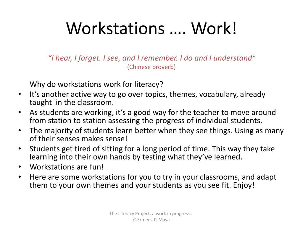 Workstations …. Work!