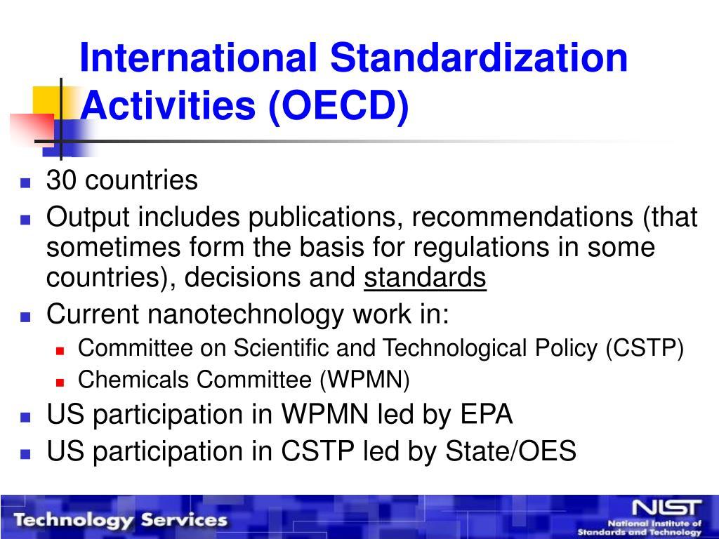 International Standardization Activities (OECD)