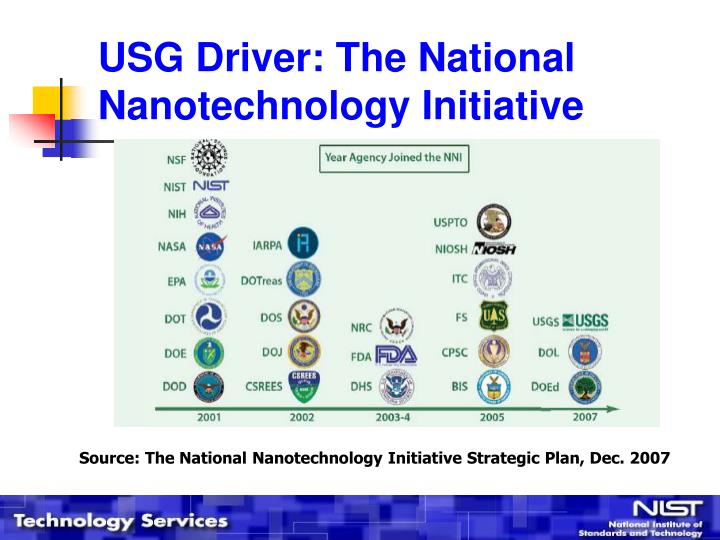 Usg driver the national nanotechnology initiative