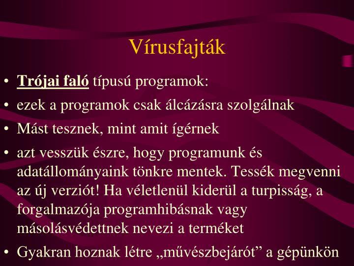Vírusfajták