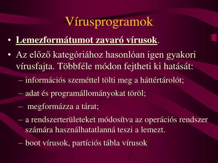 Vírusprogramok