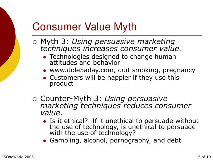 Consumer Value Myth