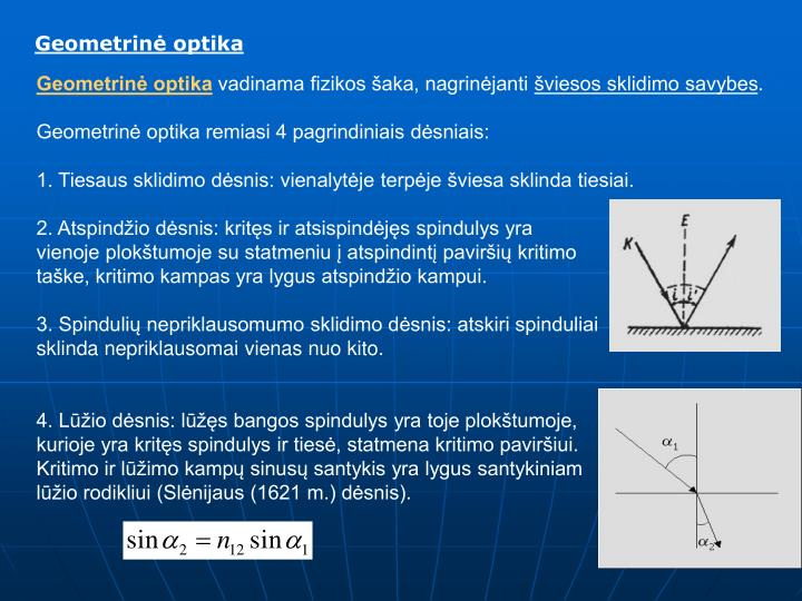 Geometrinė optika
