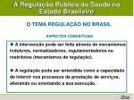 a regula o p blica da sa de no estado brasileiro