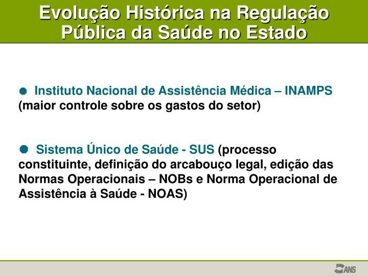 Evolução Histórica na Regulação Pública da Saúde no Estado
