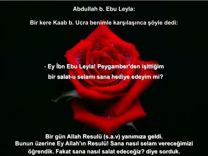 Abdullah b. Ebu Leyla: