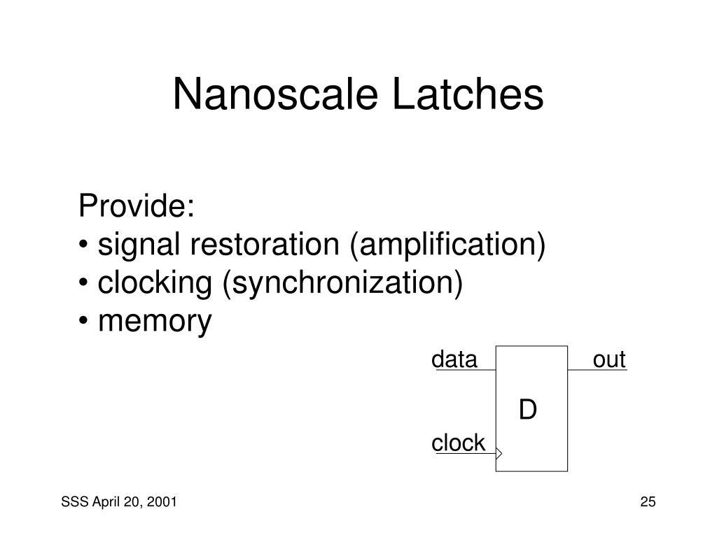 Nanoscale Latches