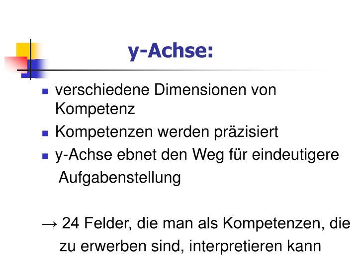 y-Achse: