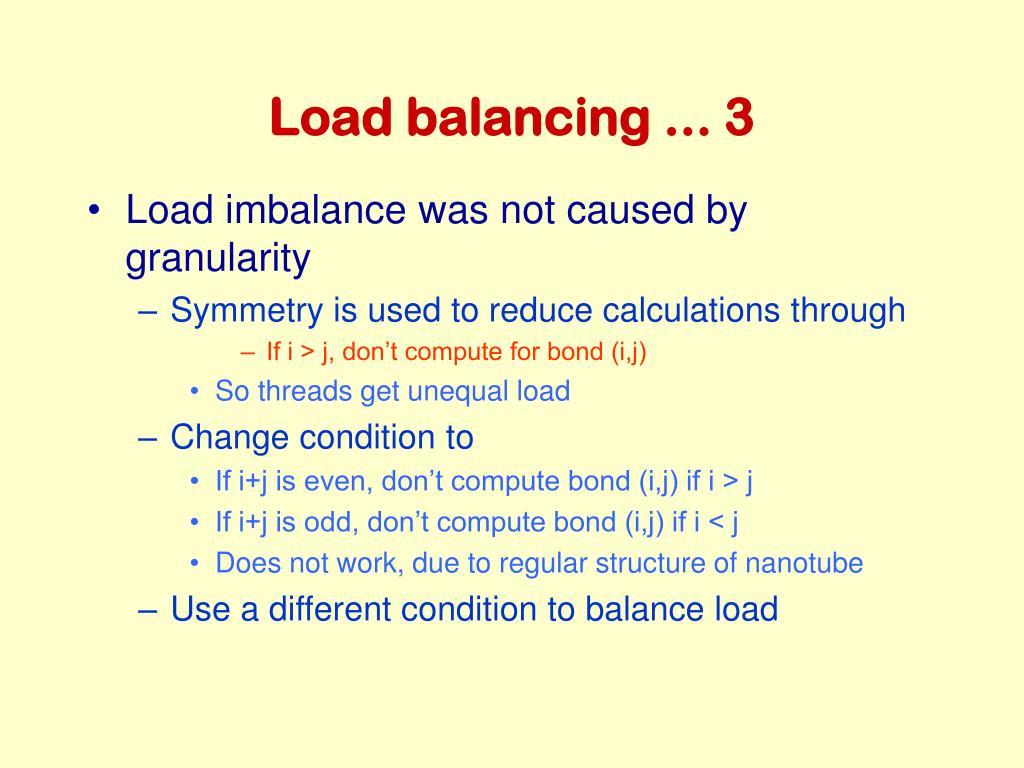 Load balancing ... 3