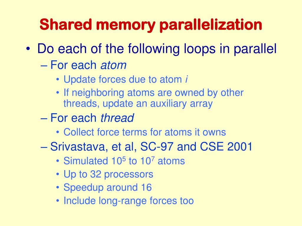 Shared memory parallelization