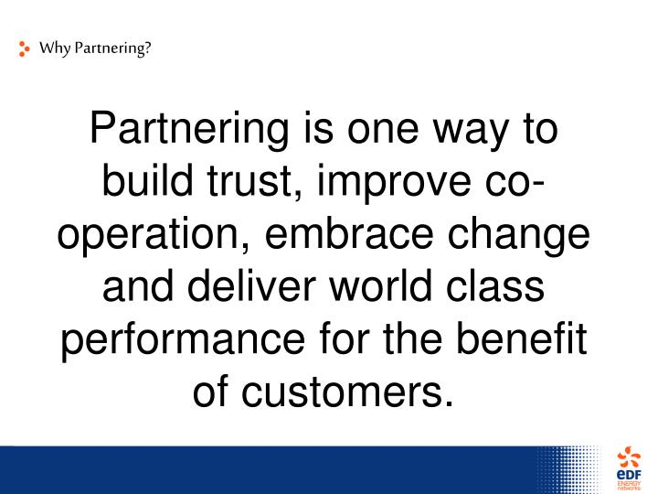 Why Partnering?