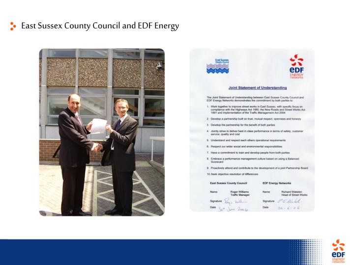 East Sussex County Council and EDF Energy