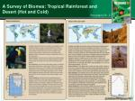 a survey of biomes tropical rainforest and desert hot and cold