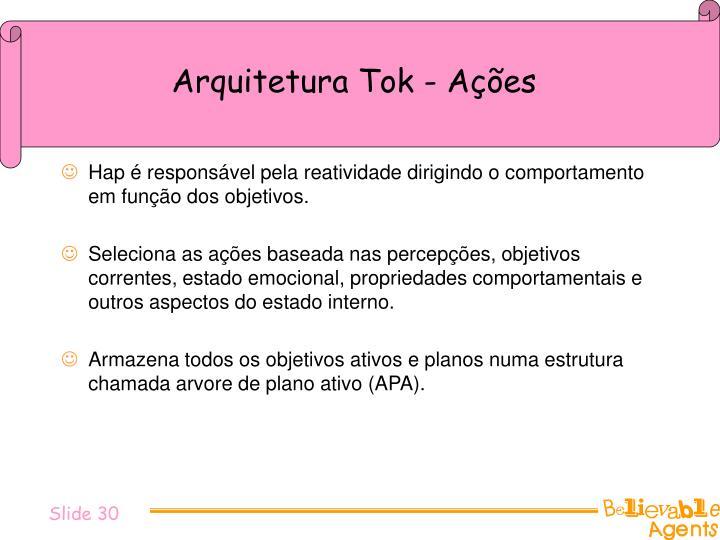 Arquitetura Tok - Ações