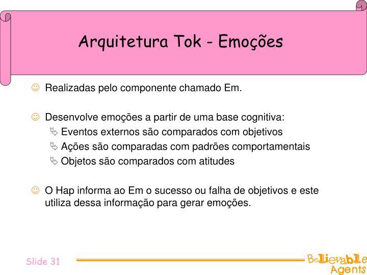 Arquitetura Tok - Emoções