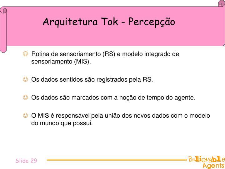 Arquitetura Tok - Percepção