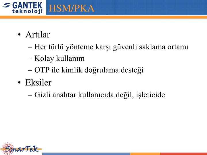 HSM/PKA