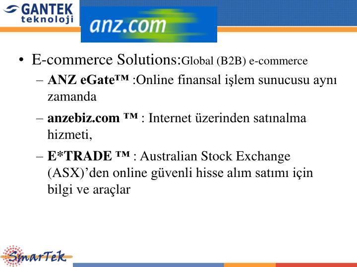 E-commerce Solutions: