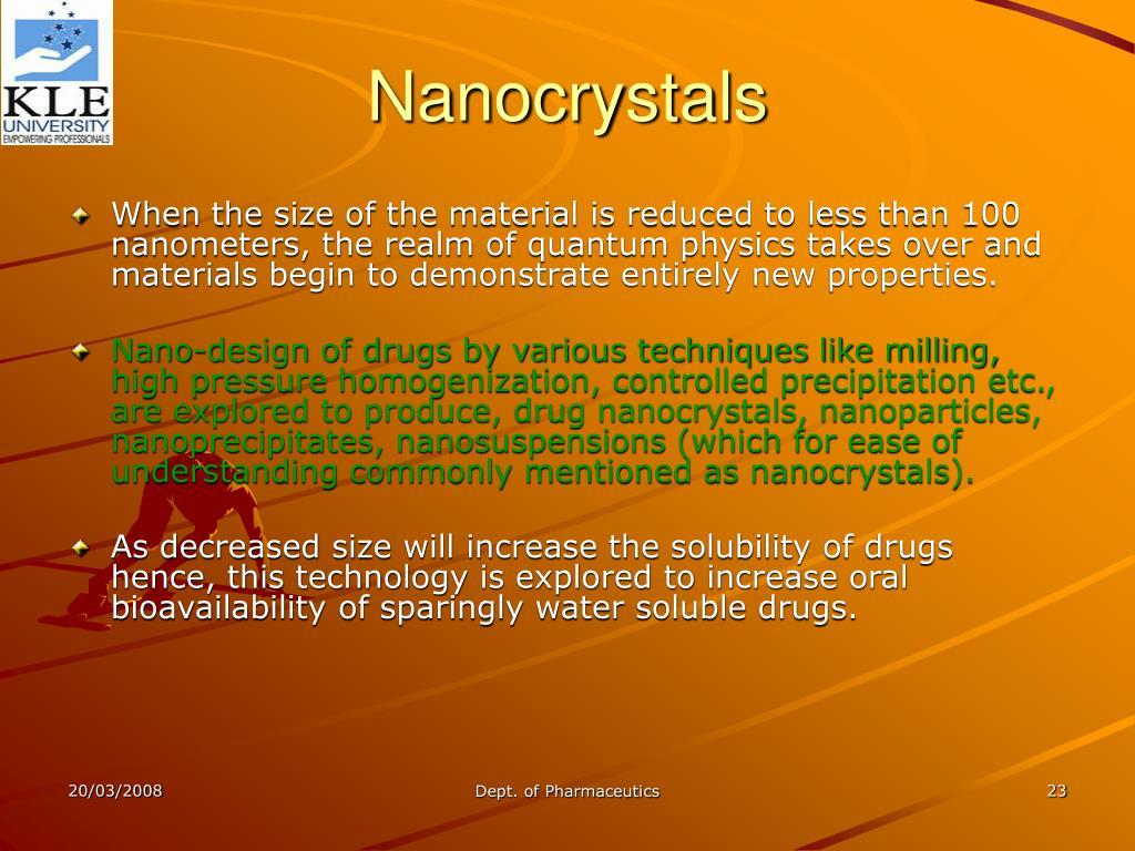 Nanocrystals