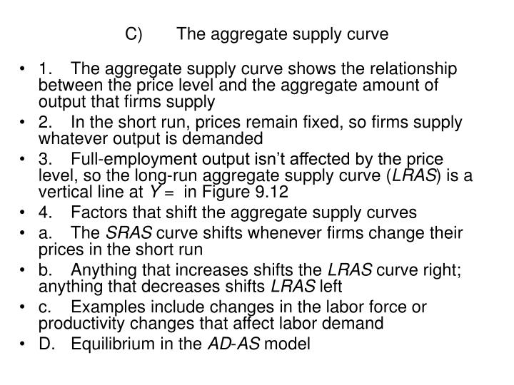 C)The aggregate supply curve