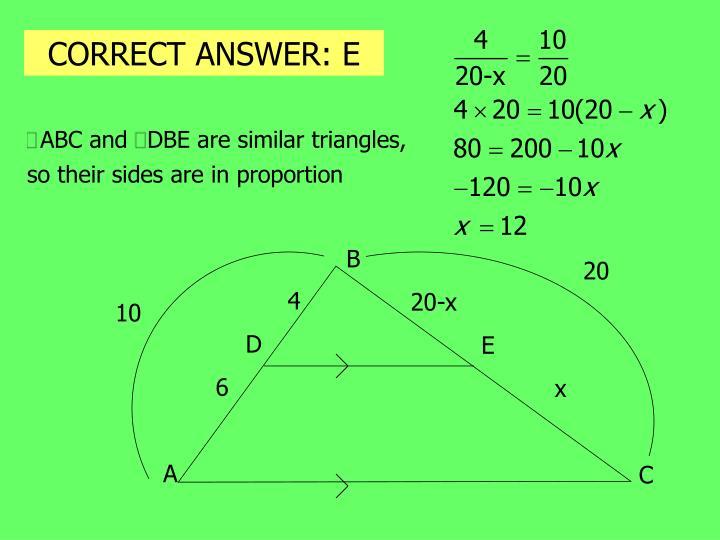 CORRECT ANSWER: E